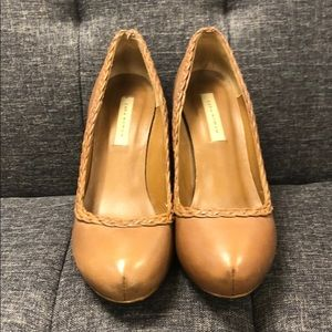 Zara brown leather pumps